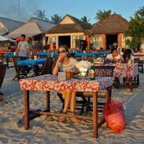 Закат на пляже Джимбаран о. Бали