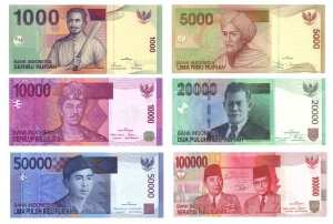 Деньги на Бали, индонезийские рупии