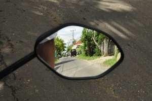 Правильное положение зеркал на байке