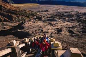 Подъем к кратеру вулкана