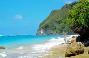 Пляж Карма Кандара в сухой сезон. Бали