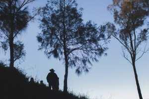 В ожидании рассвета на вулкане Бромо