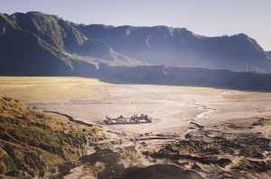 Вид на кальдеру из кратера