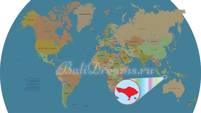 Где находится бали на карте мира фото