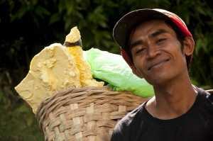 Добыча серы, Индонезия о. Ява