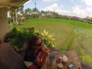 Кафе среди рисовых террас, Убуд
