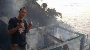 Пожар на пляже Паданг-Паданг