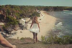 Вид на пляж Баланган со скалы