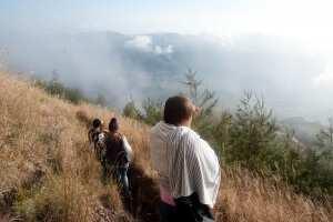 Спуск с вулкана Батур