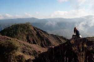 Горные хребты вулкана Батур