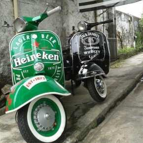 Ретроавтомобили на Бали, легендарная Vespa