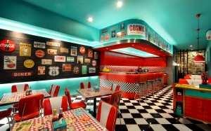Ретро ресторан Cosmic Dinner