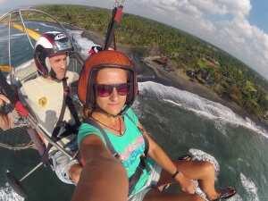 Полет на паралете. Остров Бали