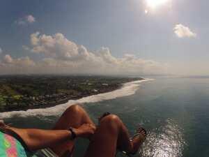 Виды с паралета на остров Бали