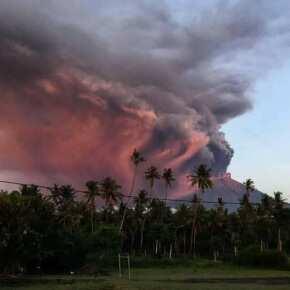 Извержение вулкана Агунг. Бали 2017