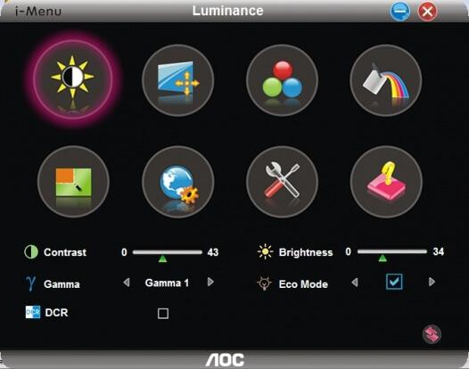 i-menu для монитора AOC